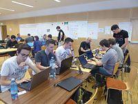 Wikimedia Hackathon Vienna 2017 attendees 04.jpg