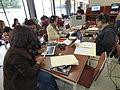 Wikipedistas trabajando en el Editatón 'Wikipedia ama el cine' 13.JPG