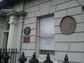 Oscar Wilde - Wilde Family home in Merrion Square