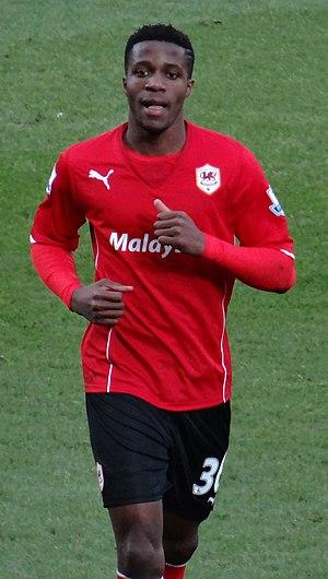 Wilfried Zaha - Zaha playing for Cardiff City in 2014