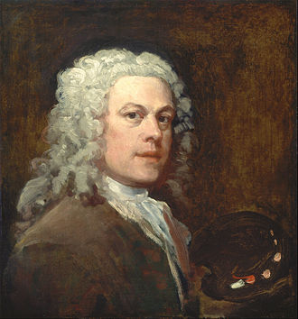 William Hogarth - Self-Portrait by Hogarth, ca. 1735, Yale Center for British Art.