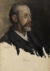 Ohne Titel (Portraitstudie Georg Frobenius). Studie zu dem verschollenen Gemälde \