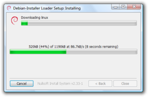 win32-loader fetching the Debian Installer under Windows Vista