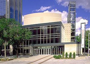 Downtown Edmonton - Edmonton's Winspear Centre in the Arts District