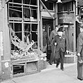 Winston Churchill inspects air raid damage at Ramsgate in Kent, 28 August 1940. H3514.jpg