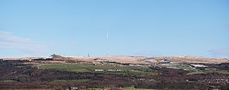 West Pennine Moors - Panorama of Winter Hill from the west