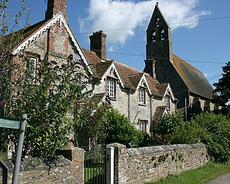 Witham Friary - Image: Witham Friary church and cottages