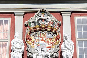 Principality of Brunswick-Wolfenbüttel - Coat of arms of the principality in early modern times (at Wolfenbüttel Palace)