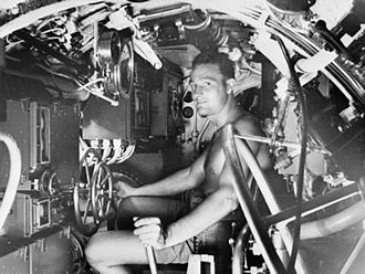 Midget submarine - Crew of a British X-class midget submarine, part of the British Pacific Submarine Fleet