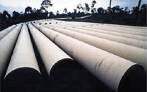 Yadana gas field - Yadana pipeline during construction