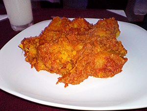 Nigerian cuisine - A yam pottage/porridge dish