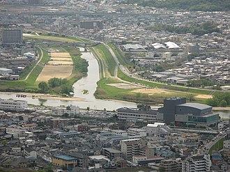 Kashiwara, Osaka - Yamato River at Kashiwara and Fujiidera