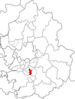 Map of Gyeonggi highlighting Yeongtong-gu.