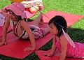 Yoga in Canada, kids following asanas.jpg