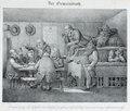 Zentralbibliothek Solothurn - Der Gemeinderath unter Bild U wenns jez da Bschluß nit bhet so chumi Gott straf mi nüt meh i Gemeinrath - aa0247.tif