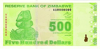 former currency of Zimbabwe