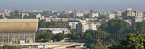 Žirmūnai - Panoramic view of Žirmūnai from the south