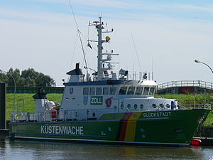 German Federal Coast Guard - Customs cruiser Glückstadt