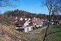 Zruč nad Sázavou, pohled zpod zámku k náměstí MUDR. J. Svobody (01).jpg