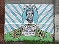 """""""In Loving Memory Ms. Justine Bonner"""" mural (2016; Julie Ann Horton, artist), 1200 Mosher Street, Baltimore, MD 21217 (41500071614).jpg"""