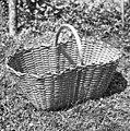 """Košica"" (za krompir pobirat), dolžina 53cm, šir. 31cm, viš. 23cm. Kočarija 1956 (cropped).jpg"