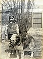"""Nancy Columbia, Esquimaux child"" (with dog) at the 1904 World's Fair.jpg"