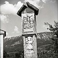 """""""Pretpil"""" (Petrov pil), spominski križ nekomu, ki so ga na tem mestu ubili pred vasjo Duplje. Datacija 1660 1958.jpg"""