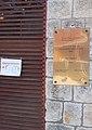 'Hungary's Most Beautiful Main Square Award 2015' plaque and -stayathome Sárospatak COVID-19 guideline, 2020 Sárospatak.jpg