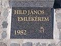 'János Hild commemorative medal 1982 MUT' plaque, 2020 Sárvár.jpg