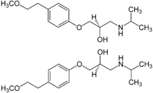 (±)-Metoprolol Structural Formulae.png