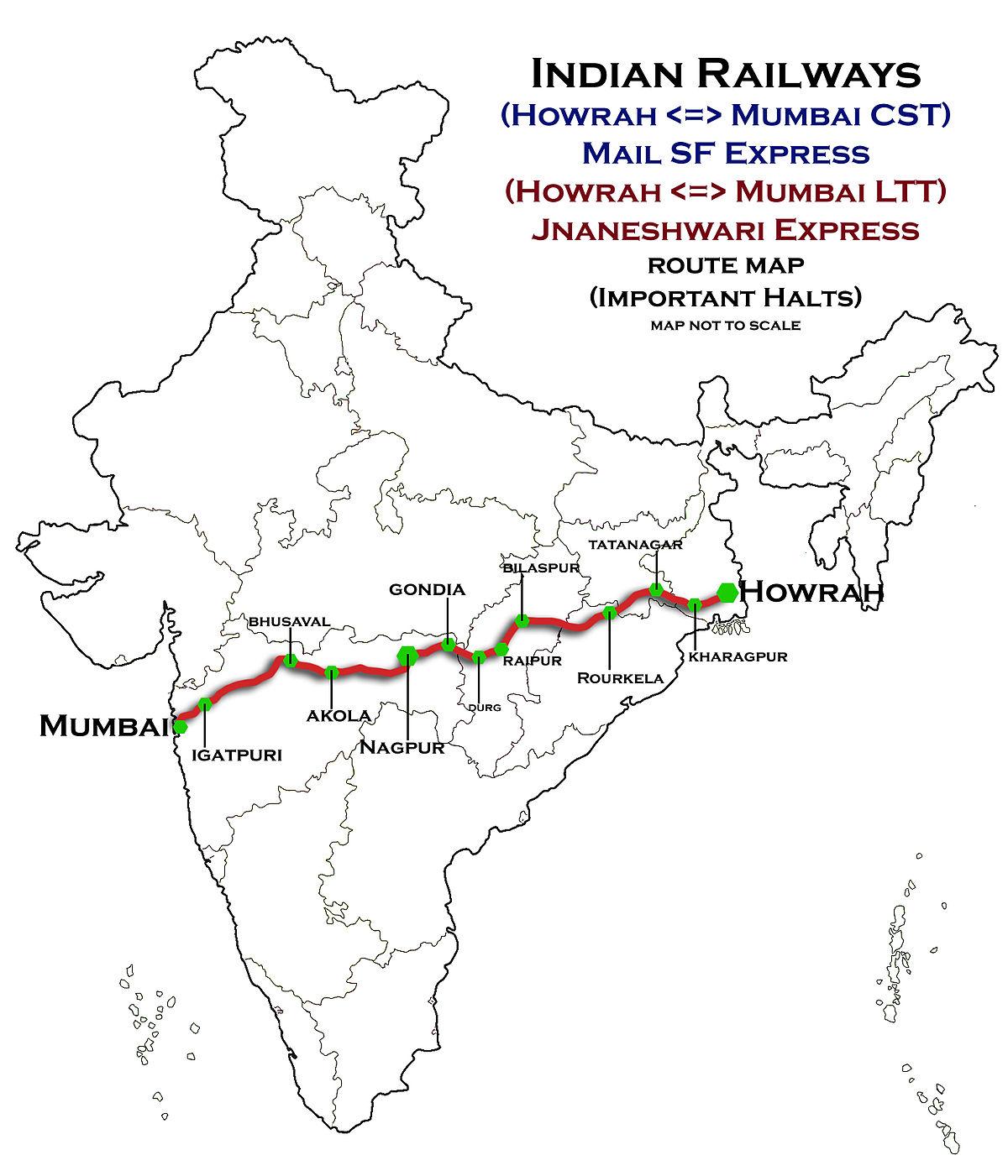 HowrahNagpurMumbai line  Wikipedia