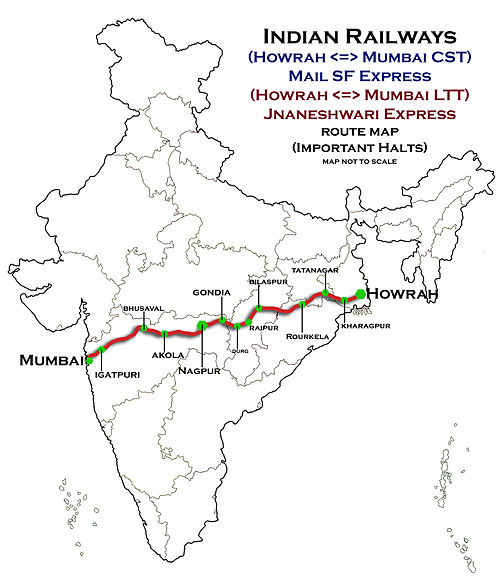 bombay express train route