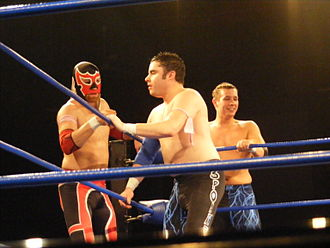 Sami Zayn - (Left to right) El Generico, Shane Matthews and Scott Parker as ¡3.0lé! during the 2011 King of Trios in April 2011