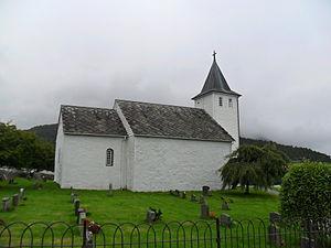Ænes Church - Image: Ænes kirke, Kvinnherad kommune, Hordaland