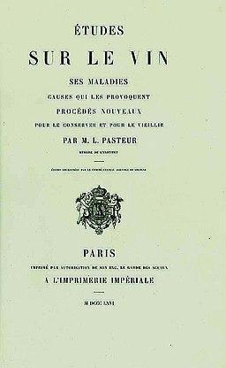 Étude sur le vin Louis Pasteur