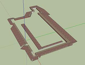 Battle of Mišar - Mišar battle sconce earthwork 3D model.
