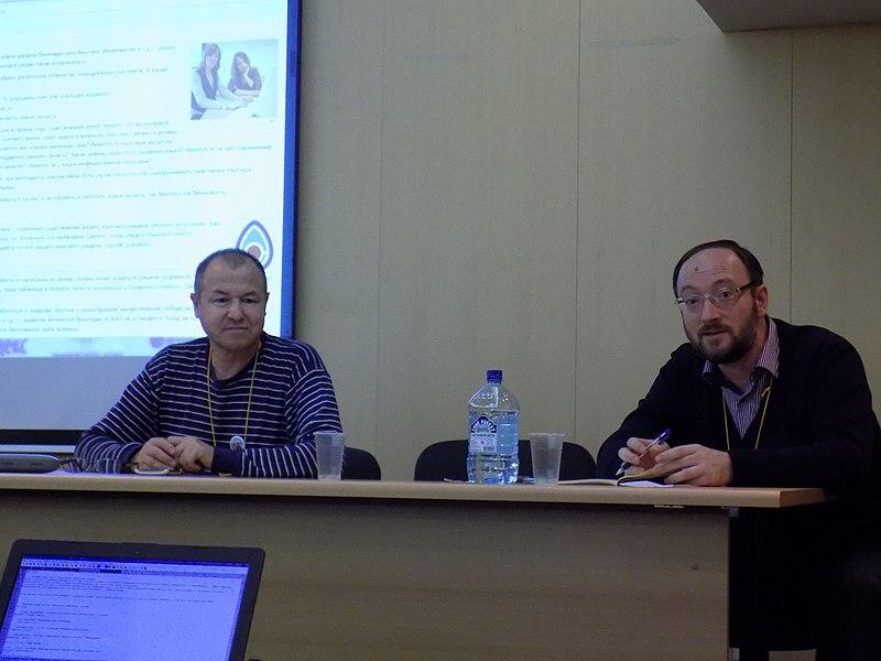File:Координаторы круглого стола по вопросам развития языковых разделов Википедии Павел Каганер и Зуфар Салихов.jpg
