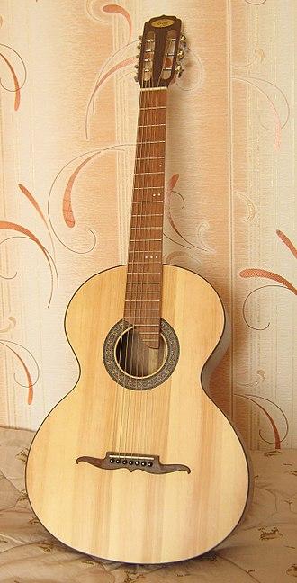 Russian guitar - A seven-string Russian guitar