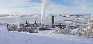 Verkhneuralsky District - One of the few mines of the Uchaly Mining and Metallurgical Combine in Verkhneuralsky District