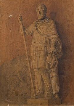 Տրդատ Ա թագավոր. ընդօրինակություն քանդակից.jpg