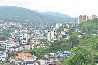 Wanding Town Town in Yunnan, Peoples Republic of China