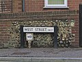 -2019-09-28 Street name sign, West Street, Cromer.JPG