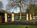 -2020-12-28 Entrance gates to the New Cromer Town cemetery, Holt Road, Cromer, Norfolk, England.JPG