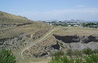 Qorasuv City in Andijan Region, Uzbekistan