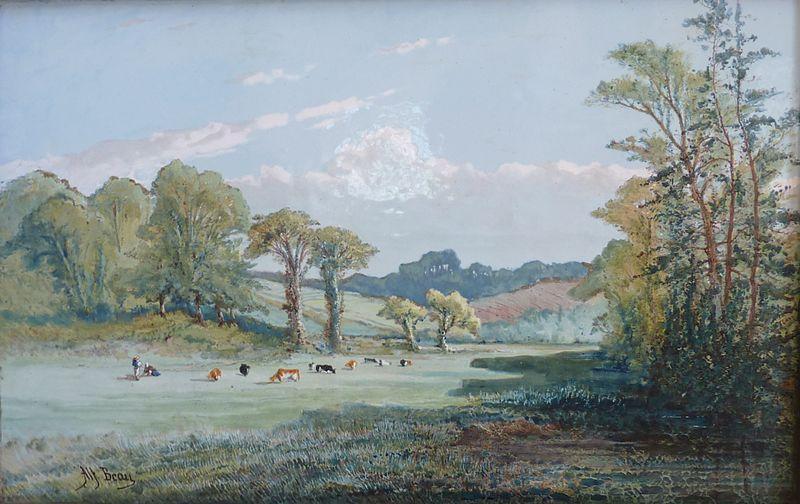 File:023 Marais de Pluguffan (Alfred Beau, peinture sur émail, manufacture Porquier, manoir de Kerazan, fondation Astor).JPG