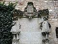 050 Castell de Santa Florentina (Canet de Mar), pati, placa que recorda el pas d'Alfons XIII.JPG