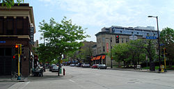 East Hennepin Avenue, looking north to the birthplace of Nordeast