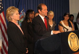 New York gubernatorial election, 2006 - Eliot Spitzer and Hillary Clinton.