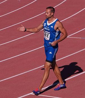 Lykourgos-Stefanos Tsakonas - Lykourgos-Stefanos Tsakonas after the 100m race at 2015 European Team Championships First League