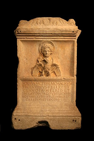 Malakbel - Altar dedicated to the god Malakbel (Sun), Capitoline Museums (Rome).